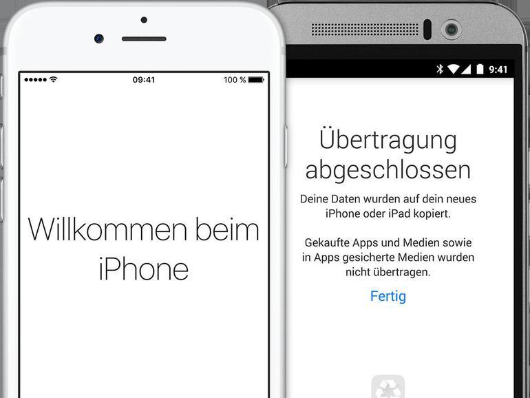 Von Android zu iOS wechseln