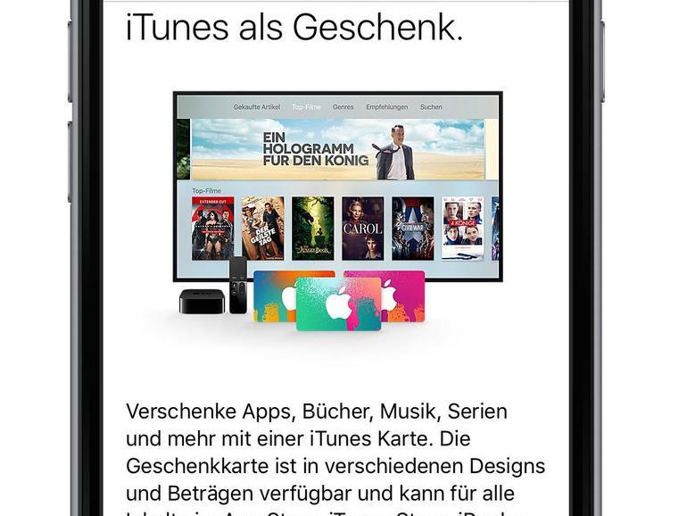 Es geht auch ohne iTunes. Der Apple Store ist eine praktische Alternative, wenn es darum geht, ein iTunes-Guthaben zu verschenken.