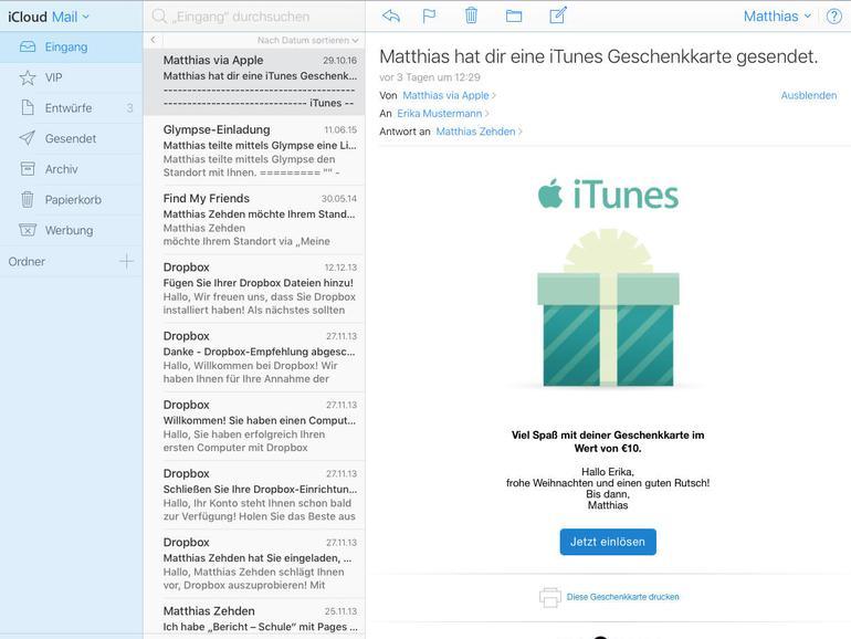 Geschenke in letzter Sekunde: So verschenken Sie Musik, Apps und iTunes-Guthaben