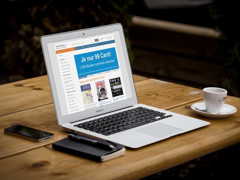 Terrashop im Browser auf dem MacBook Air