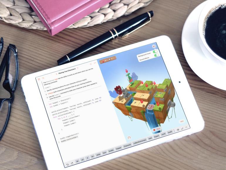 Swift Playgrounds läuft auf dem iPad