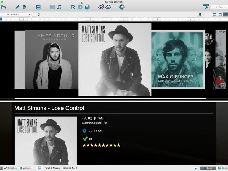 Der Music Collector überzeugt mit seinem plattformübergreifenden Ansatz, ermöglicht eine Synchronisierung der Datenbestände jedoch nur mit der eigenen Cloud.