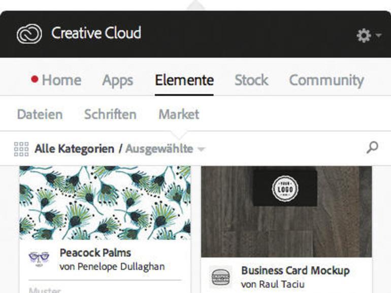 Kostenfreie Vorlagen gibt es in der Creative Cloud