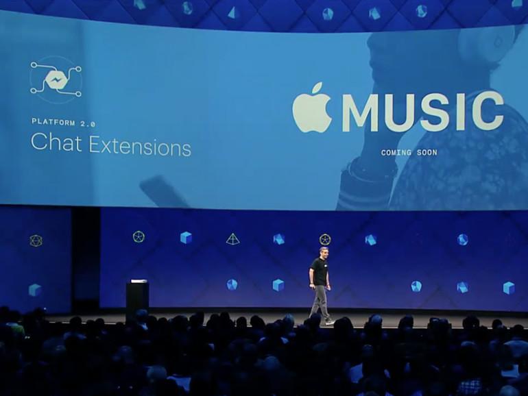 Apple Music kann bald auch im Facebook Messenger genutzt werden