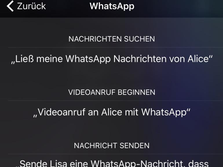WhatsApp: Siri soll neue Nachrichten vorlesen
