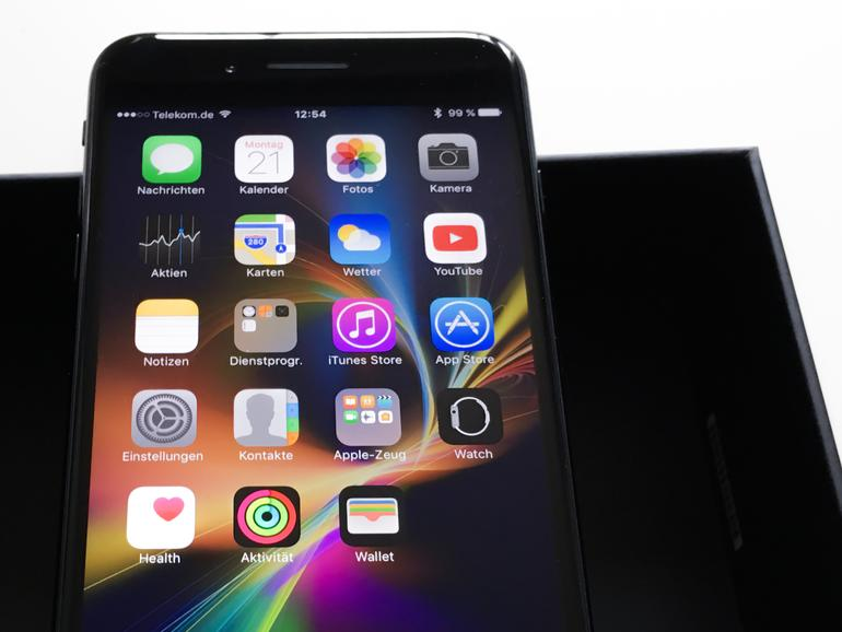 Beim iPhone 7 Plus ist der Fingerabdrucksensor noch auf der Vorderseite