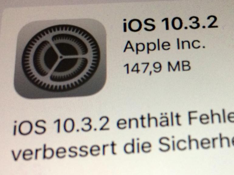 Apple veröffentlicht iOS 10.3.2: Sie sollten es schnell installieren