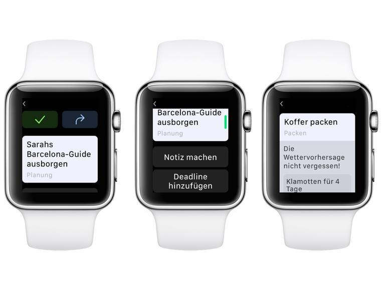 ... der Apple Watch ...