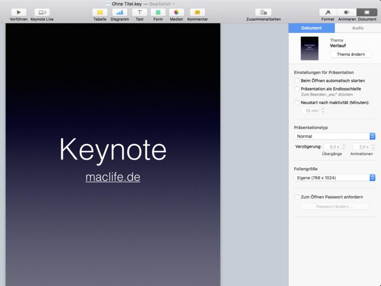 keynote präsentation