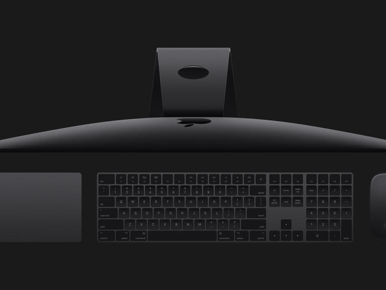 Das Zubehör des iMac Pro gibt es in Spacegrau, aber wohl nur im Paket mit dem Desktop-Mac