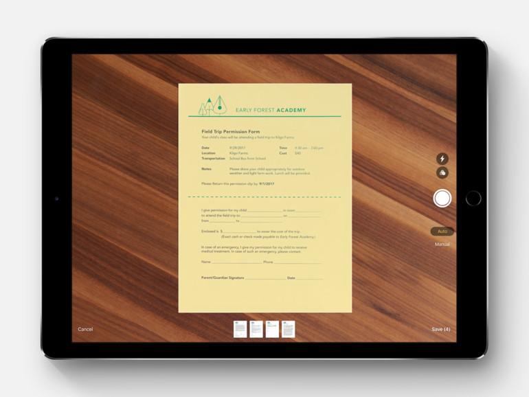Apple integriert Dokumente-Scanner