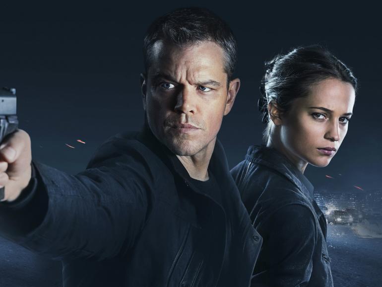 """Die zwei Protagonisten Matt Damon und Alicia Vikander aus dem neuen Film """"Jason Bourne"""""""