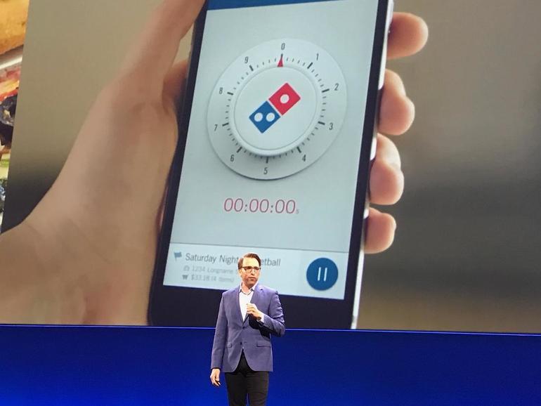 Pizzalieferung mit Ofen-Uhr
