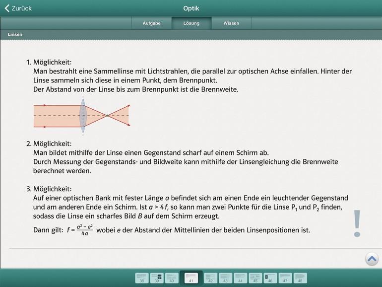 Screenshot aus Abi Lernbox
