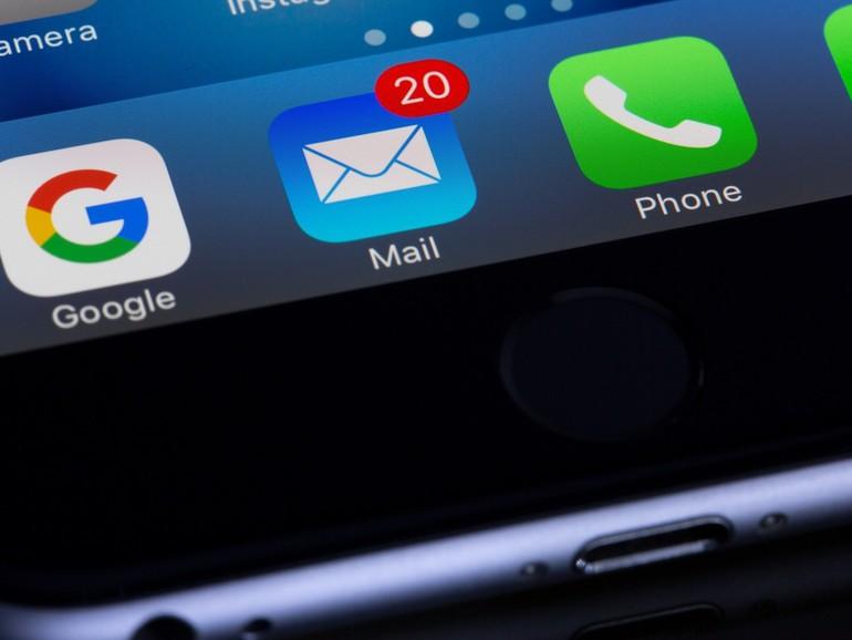 Warum bekommt mein Mann E-Mails?
