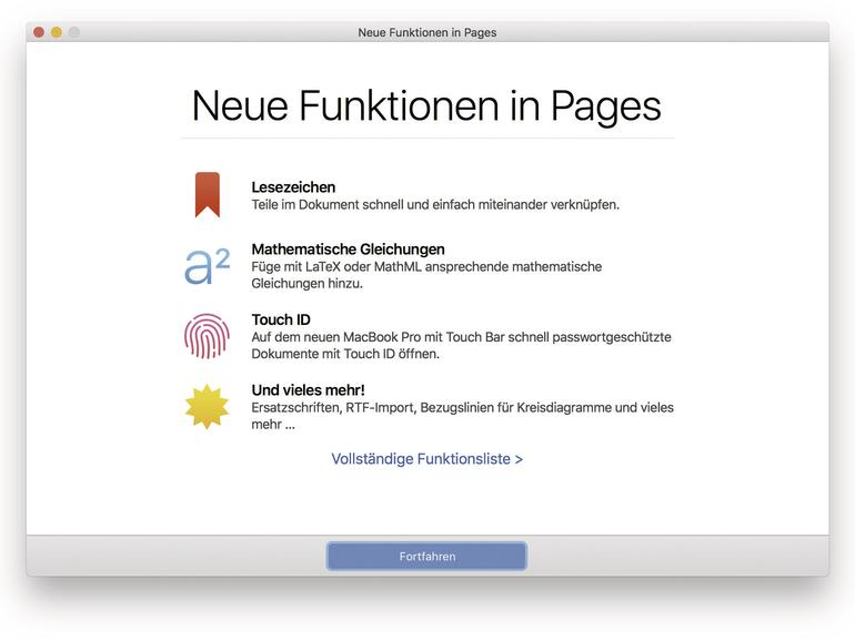 Alle Jahre wieder kümmert sich Apple um seine Anwendungsprogramme und spendiert auch Pages neue Funktionen.