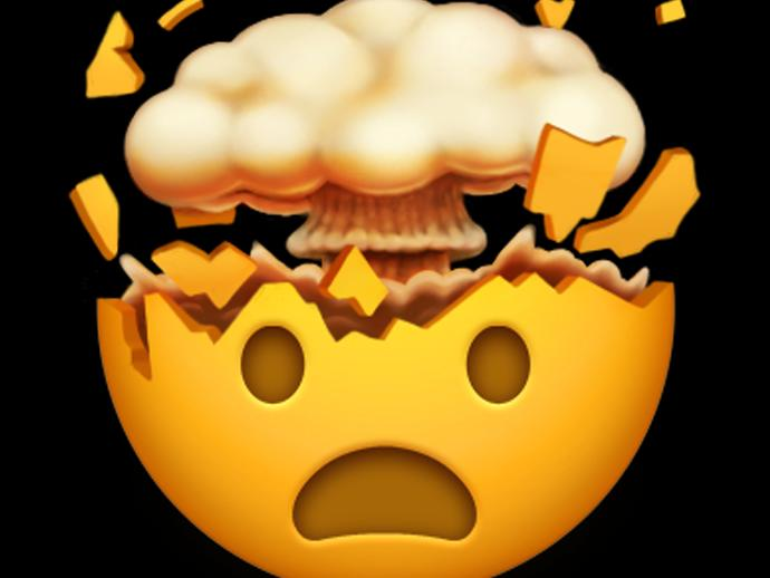 Diesem Emoji explodiert der Kopf