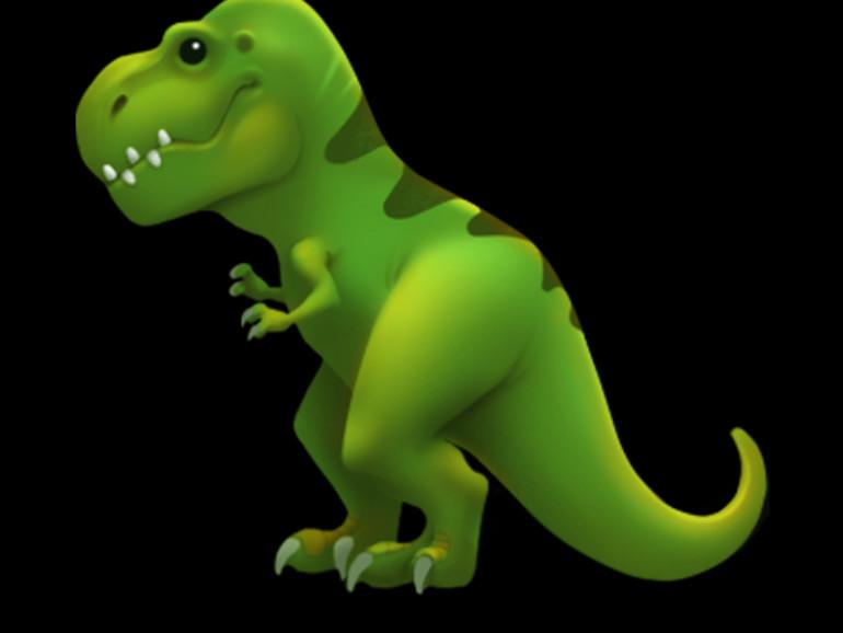 Der T-Rex als Emoji