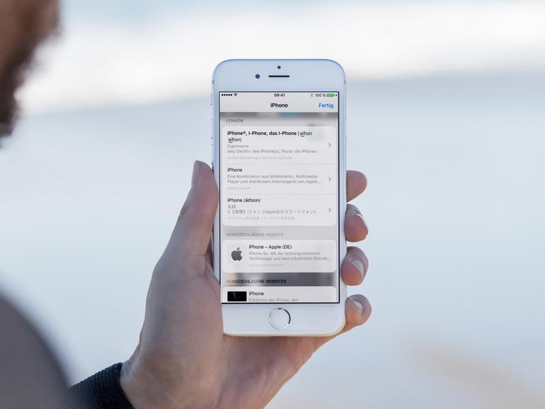 So nutzen Sie die Lexikon-Funktion ohne Siri-Vorschläge
