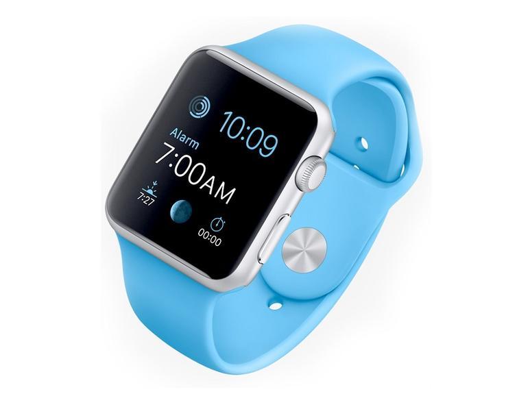 Die Apple Watch Sport in Silver
