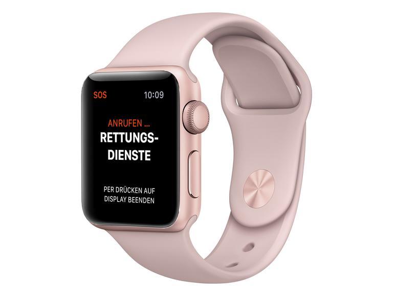 So sieht ein Notruf auf der Apple Watch aus.
