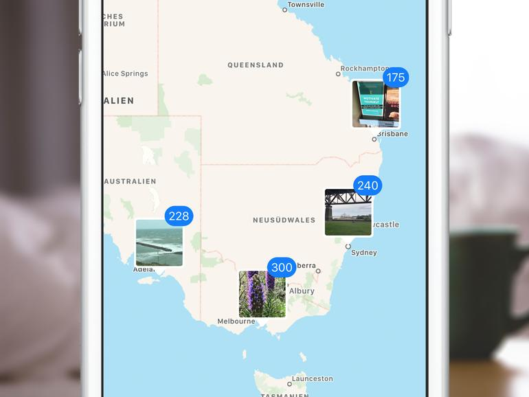 Auf der Karte kann man Fotolocations wiederfinden