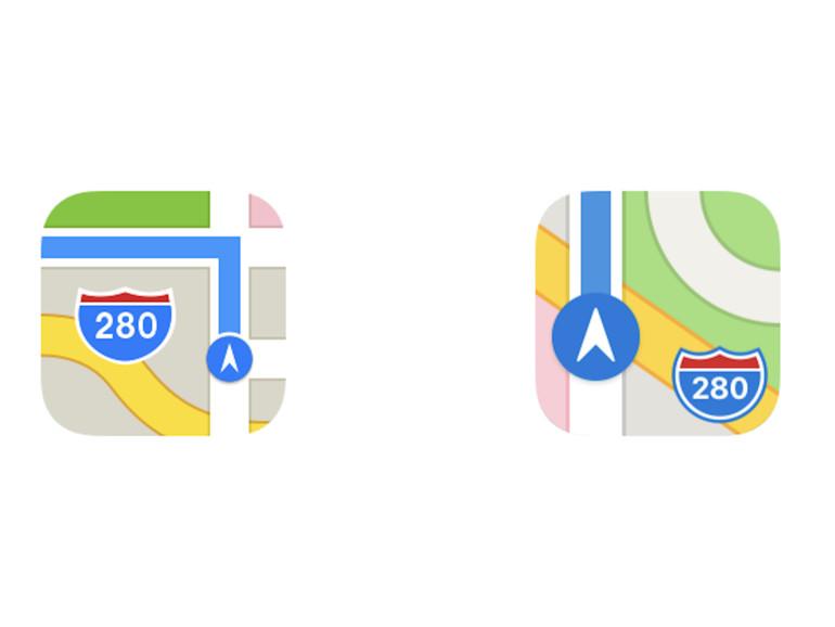 Links das ältere Icon, rechts das neuere.