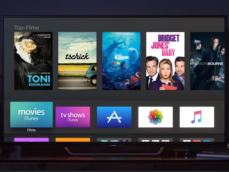 Bisher laufen auf dem Apple TV nur Produktionen von Netflix  und Co.