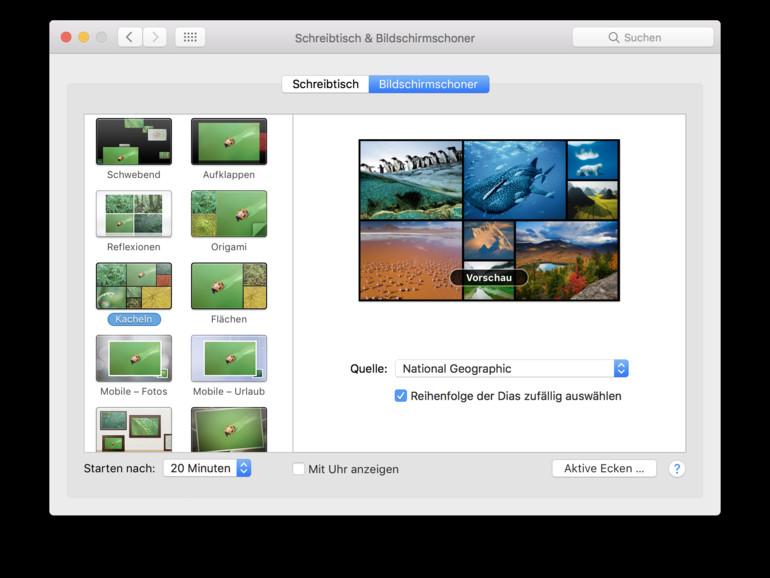 Hier versteckt Apple die Fotos vom Bildschirmschoner