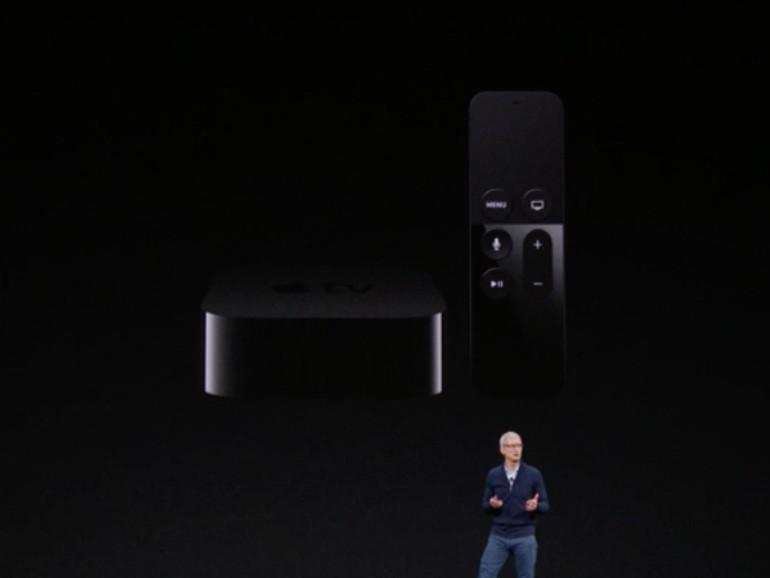 Tim Cook auf der Bühne des Steve Jobs Theaters