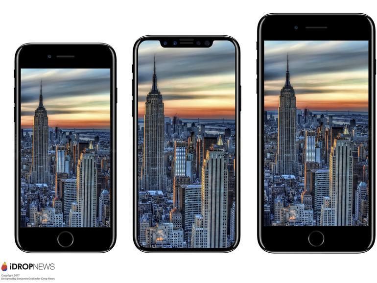 Das iPhone X wird sich wohl zwischen dem iPhone 8 und 8 Plus positionieren - zumindest in Sachen Abmessungen