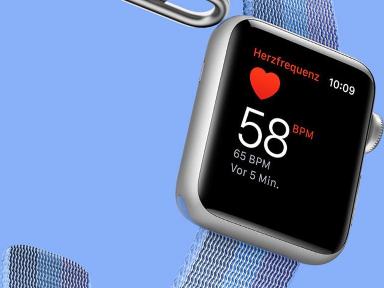Die Herzfrequenzmessung hat Apple bereits in der ersten Generation integriert