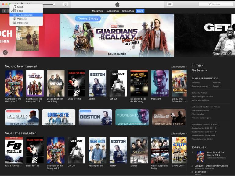 Apple setzt den Fokus von iTunes wieder auf Medieninhalte