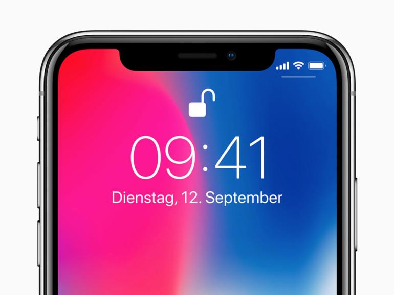 """Face ID entsperrt das iPhone X. Bei der ersten Demo """"funktionierte"""" es nicht auf Anhieb..."""