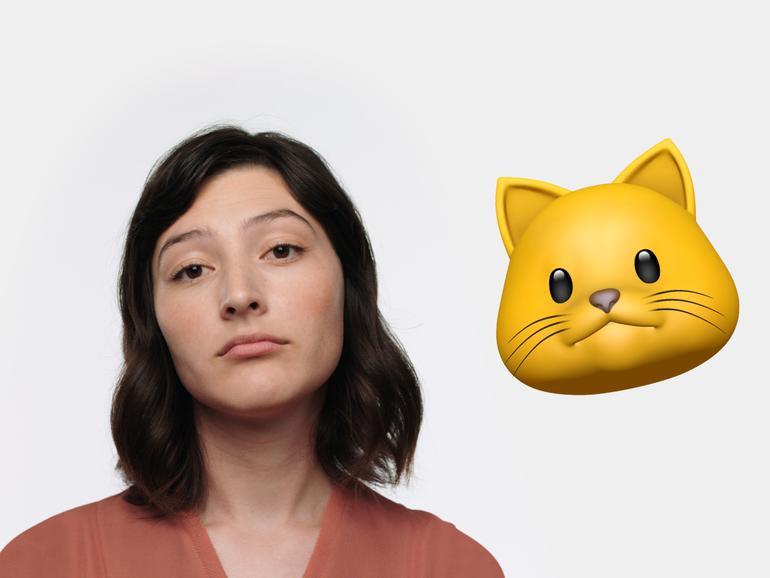 Die Animojis übernehmen Ihren Gesichtsausdruck