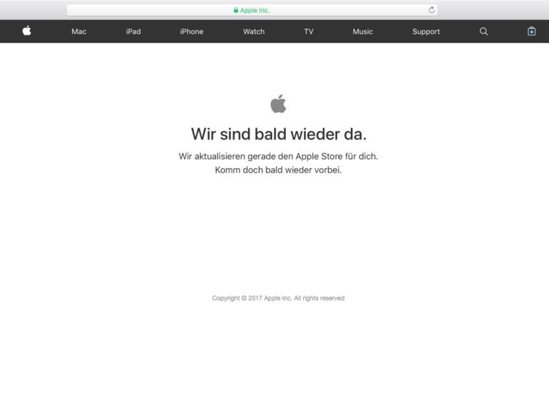 Im Apple Online Store kann ab 9:01 Uhr das iPhone 8 & 8 Plus vorbestellt werden