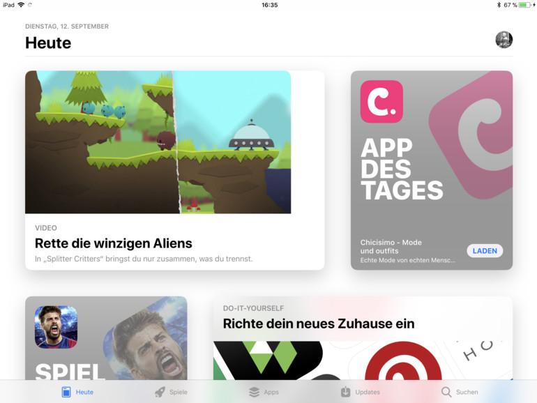 Auch der App Store wurde ganz neu gestaltet