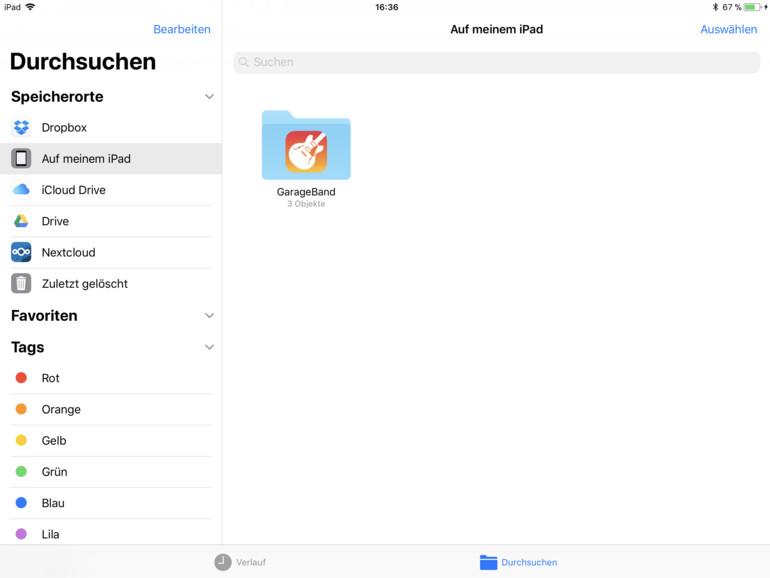 Die Dateien-App will der Finder fürs iPad sein