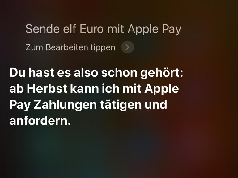 So sieht die Antwort von Siri aus.