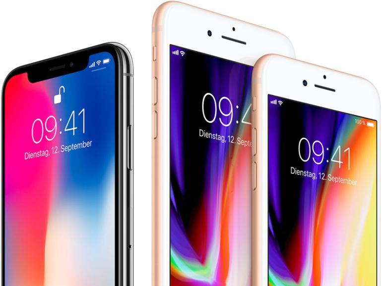 Das iPhone X ist nur wenig größer als das iPhone 8
