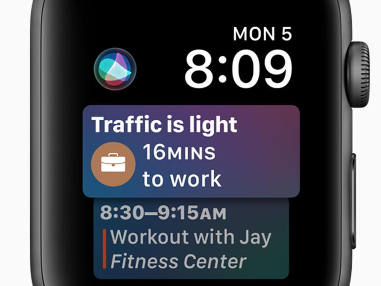 Das neue Siri-Zifferblatt in watchOS 4 weiß hoffentlich immer Bescheid