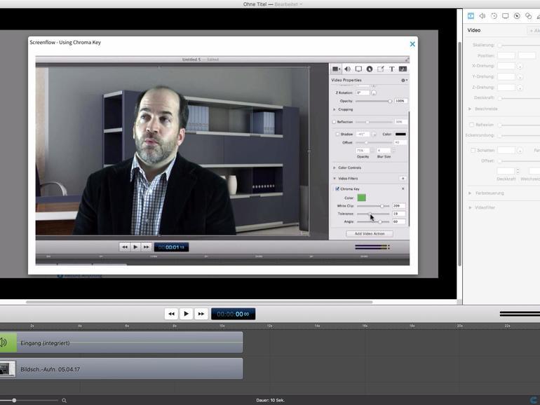 Screenshot aus ScreenFlow 6