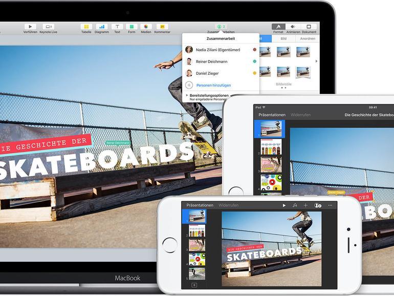 Keynote nutzen Sie am Mac, aber auch iPad und iPhone