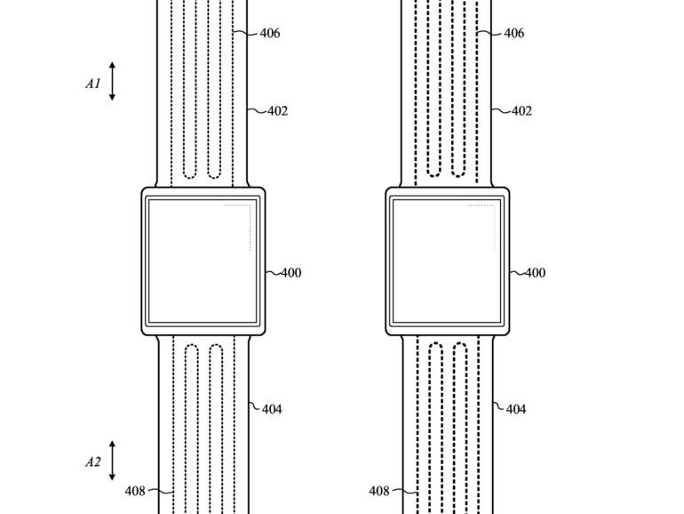 Patentskizze zu anpassbarem Armband für Wearable