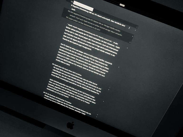 Mac-Verkaufszahlen entwickelten sich negativ im dritten Quartal