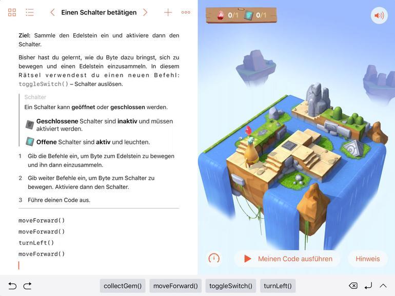 Swift Playgrounds vermittelt auf dem iPad nicht nur Grundzüge, sondern auch Besonderheiten der Programmiersprache Swift.