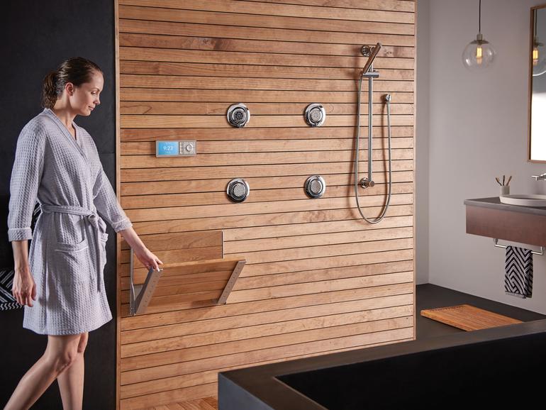 Dusche mit Display