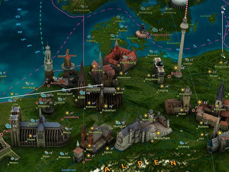 Screenshot aus Erde 3D