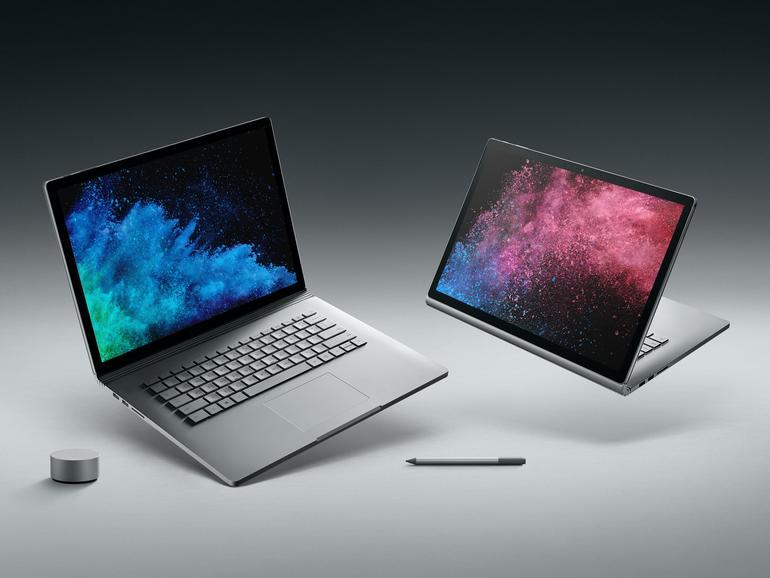 Das Surface Book 2 lässt sich als klassischer Laptop und als Tablet benutzen