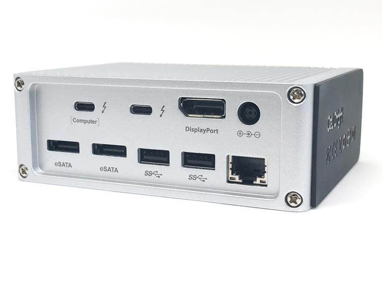 Das Caldigit TS3 bietet eine Reihe an Anschlüssen, darunter auch die für Mac-Anwender eher exotischen eSATA-Buchsen.